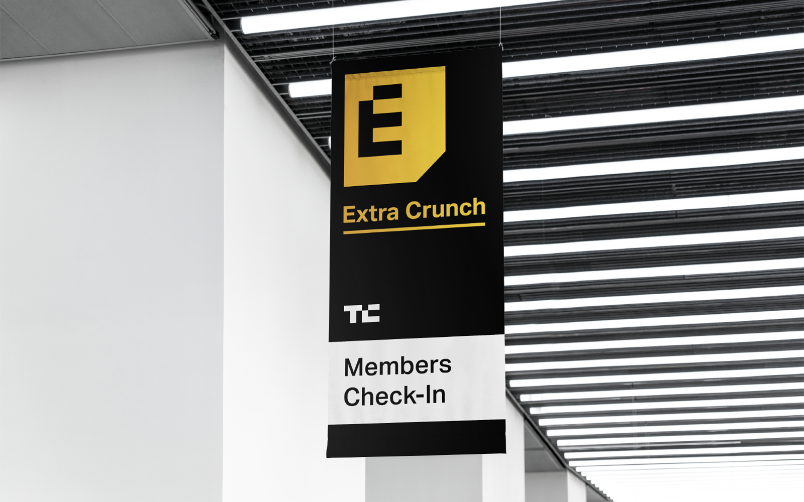 ExtraCrunch visual identity by Mark Forscher